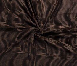 Plain Velboa Faux Fur Fabric | Brown