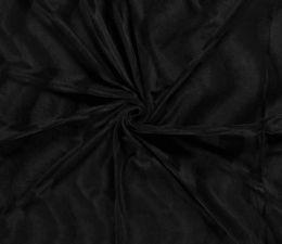 Plain Velboa Faux Fur Fabric | Black