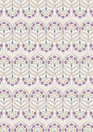 Jardin De Lis Fabric | Star Floral Cream - Gold Metallic