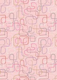 The Dreamer Fabric | Swirly String Blush