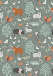 Country Life Fabric | Country Life Green
