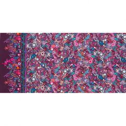 Effervescence Fabric | Full Width Border Boysenberry