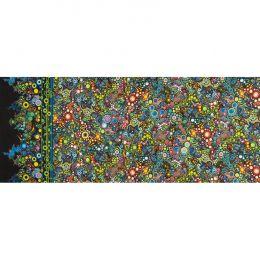 Effervescence Fabric | Full Width Border Multi Dot Caribbean