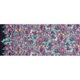 Effervescence Fabric | Full Width Border Multi Dot Atmosphere