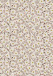 Noel Metallic Christmas Fabric | Stars & Berries Natural