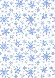 Keep Believing Fabric   Snowflakes White