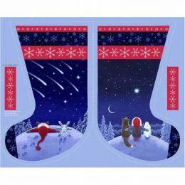 Keep Believing Fabric   Stargazing Stocking Panel