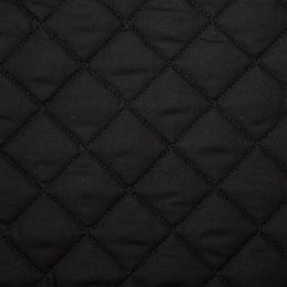Classic Polycotton Fabric Quilted | Black