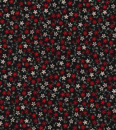 Cotton Print Fabric | Daisy Black