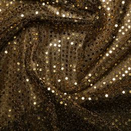 Sequin Fabric 3mm | Gold/Black