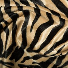 Animal Print Velboa Fabric Faux Fur   Antelope
