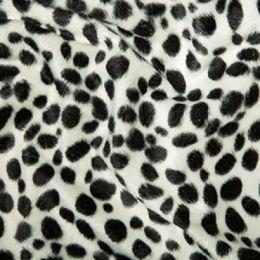 Animal Print Velboa Fabric Faux Fur | Dalmation