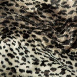 Animal Print Velboa Fabric Faux Fur | Lynx