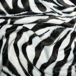 Animal Print Velboa Fabric Faux Fur | Zebra