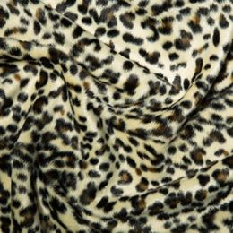 Animal Print Velboa Fabric Faux Fur | Baby Leopard