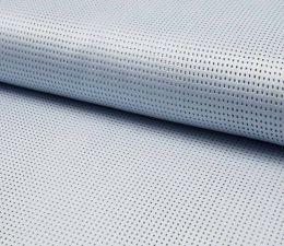 Suede Laser Punched Fabric | Pale Blue