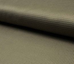 Suede Laser Punched Fabric | Khaki