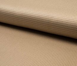 Suede Laser Punched Fabric | Beige
