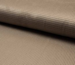 Suede Laser Punched Fabric | Taupe