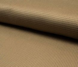 Suede Laser Punched Fabric | Camel