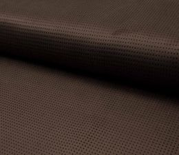 Suede Laser Punched Fabric | Dark Brown