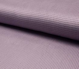 Suede Laser Punched Fabric | Lilac