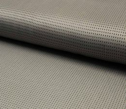 Suede Laser Punched Fabric | Light Taupe