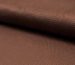 Suede Laser Punched Fabric | Mature Cognac