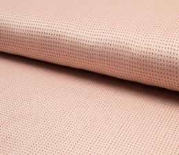 Suede Laser Punched Fabric | Salmon