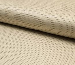 Suede Laser Punched Fabric | Light Sand