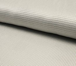 Suede Laser Punched Fabric | Silver Grey