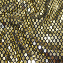 Stretch Sequins | Black / Gold
