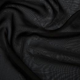 Chiffon Dress Fabric - Cationic | Black