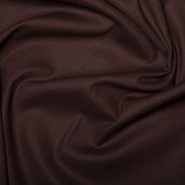 Cotton Sateen Stretch - Dressweight | Brown
