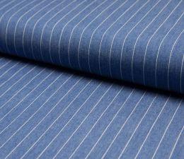 Jacquard Weave Denim Fabric | Broad Stripe Light Jeans