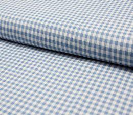 Denim Fabric | Small Check Light Jeans