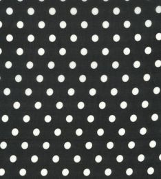 Crepe Chiffon Lightweight   Spot Black