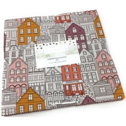 The Old Chocolate Shop Fabric   Scrumptious Squares