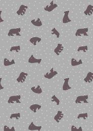 Lewis & Irene Jersey Fabric   Big Bear