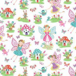 Day Dream Fabric | Fairies White