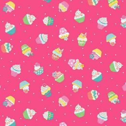 Day Dream Fabric | Cupcakes Pink