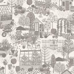 Clara's Garden Fabric   The Garden Grey