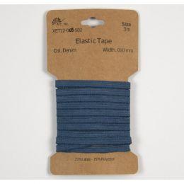 Classic Flat Elastic, 5mm Denim - 3m
