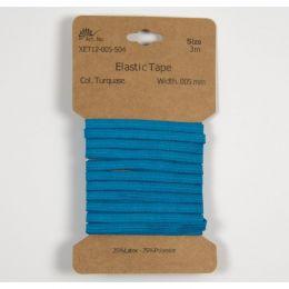Classic Flat Elastic, 5mm Turquoise - 3m