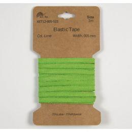 Classic Flat Elastic, 5mm Lime - 3m