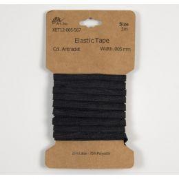 Classic Flat Elastic, 5mm Black - 3m