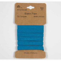 Classic Flat Elastic, 10mm Turquoise - 3m
