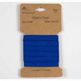 Classic Flat Elastic, 10mm Cobalt - 3m