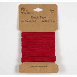 Classic Flat Elastic, 10mm Red - 3m