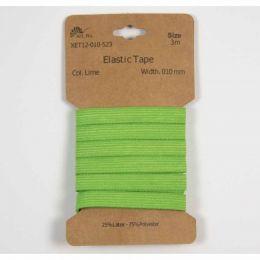Classic Flat Elastic, 10mm Lime - 3m